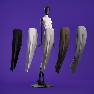 pants cloth mannequin 3D model