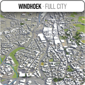 windhoek surrounding - 3D model