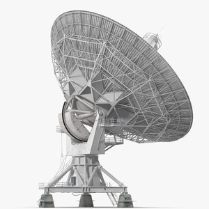 big satellite antenna rotate 3D model