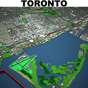3D toronto cityscape