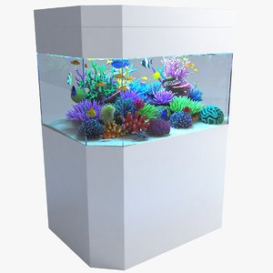 3D aquarium 04 model