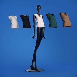 3D blouses mannequin