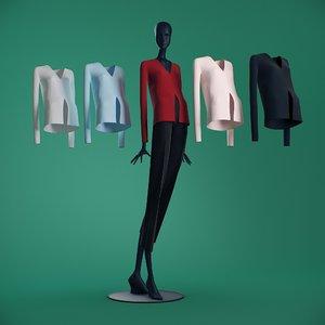 jackets female mannequin clothes model