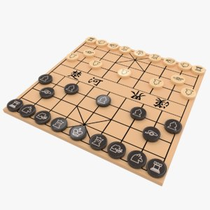 chinese chess board xiangqi model