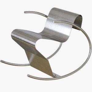 rock n roll chair 3D