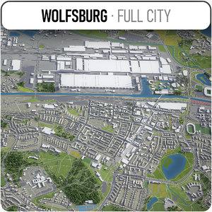 3D model wolfsburg surrounding -