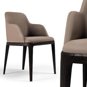 3D grace chair poliform 2 model