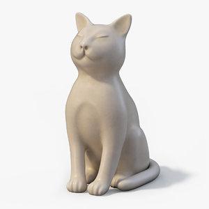 cat statue 3D model
