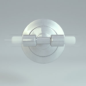 lamp wall silver 3D