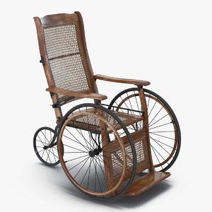wheelchair vintage chair 3D model