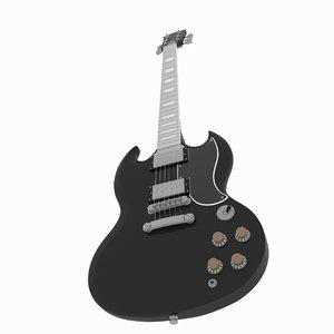 3D fender stratocaster electric guitar
