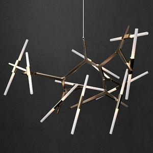 agnes chandelier 3D