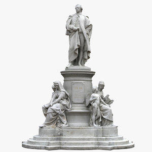 goethe monument 3D model