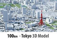 Tokyo 3D city - 100km