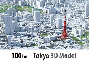 3D tokyo city -