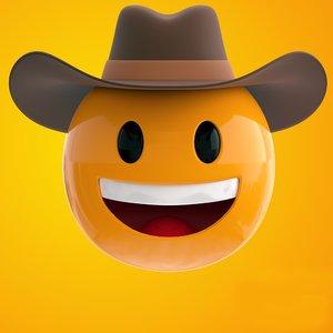 3D cowboy emoji