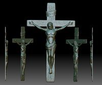 Crucifix STL model - 3D relief file for CNC router - Jesus crucifixion cross