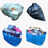 garbage bags 3D