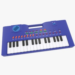 electronic keyboard piano 3D model