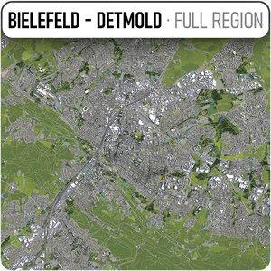 bielefeld - detmold surrounding 3D model