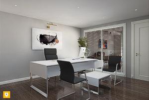 sketchup scene office model