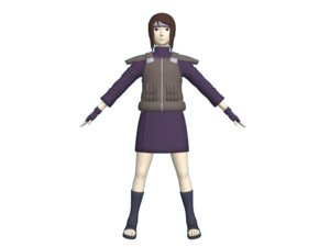 ordinary female shinobi 3D model