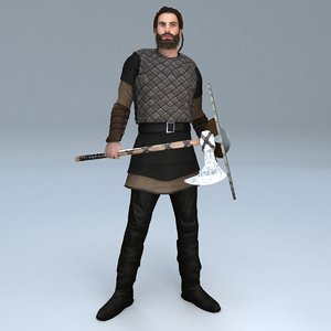 3D rigged viking