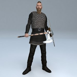 3D model rigged viking