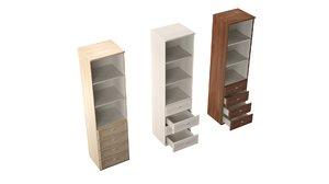 3D model open column cabinet