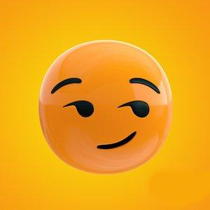 3D cheeky emoji