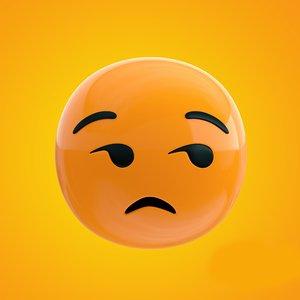 bored emoji 3D model