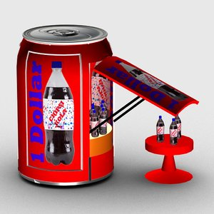 3D soft drink stand model