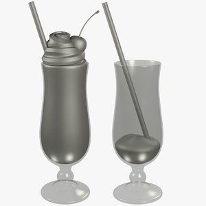 cocktail beverage glass 3D