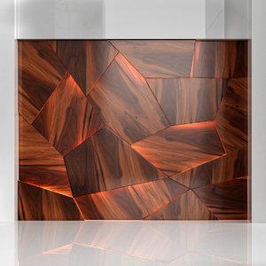 wooden panels 3D model