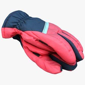 3D model winter gloves