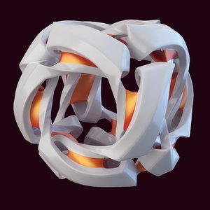 3D abstract cube model