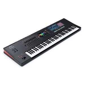 3D model keyboard music workstation roland