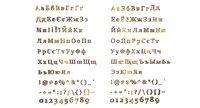 russian ukrainian letters 3D model