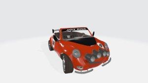 duet rally car 3D model
