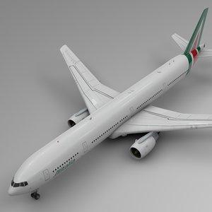 3D model alitalia boeing 777-300er l563