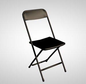 3D metal folding chair model