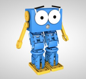 3D robot droid character