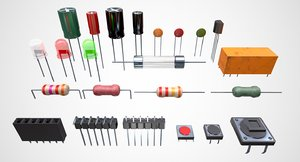 electronic components 3D model