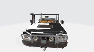 horizon safari car black 3D model