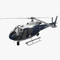 helicopter as-350 baltimore county 3D