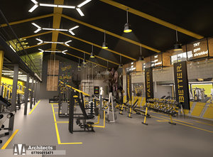 gym sport 3D model
