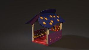 3D children s playhouse
