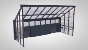 atrium office building model