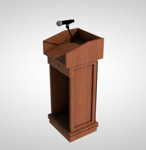 3D model podium stand