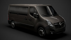 3D model vauxhall movano l2h1 windowvan